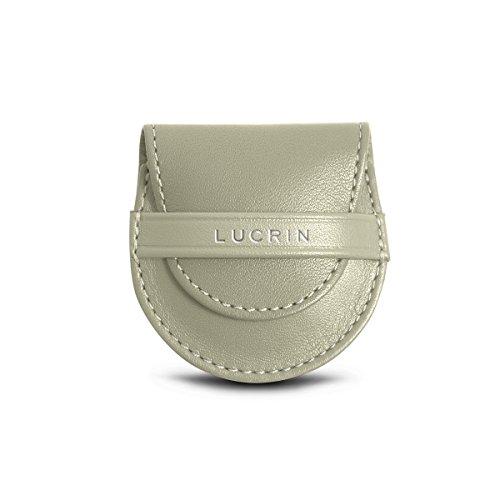 Lucrin Blanc pochon Cuir Violet cuir Cassé sac en son et Lisse Accroche ZqrZfwa1p