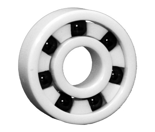 High Speed Skateboard Bearings, Full Ceramic, White (Pack of 8) by VXB
