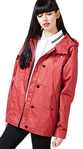 Fred Perry Woman's Cropped Summer Parka Dark Hibiscus 6US by Fred Perry