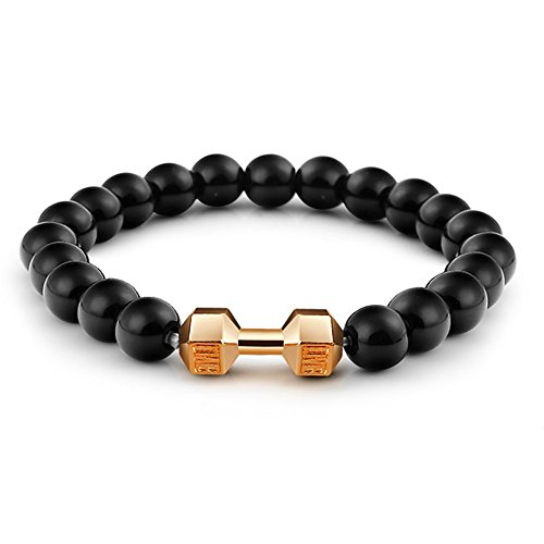 Paxuan Gemstone Handmade Bracelet Dumbbell