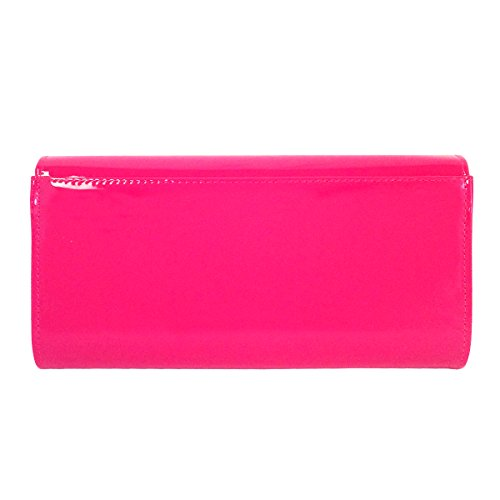 Clutch Candy JNB Leather Women's Fuchsia Patent 0qnFPO