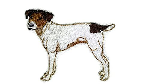 "Amazing Custom Dog Portraits [Jack Russell Terrier] Embroidery Iron On/Sew patch [4.5"" x 4""][Made in USA]"