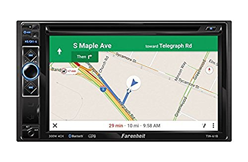 Farenheit TIN-61B 2-DIN GPS Mobile Link X2 Source Unit (With 6.2'' LCD/Bluetooth) by Farenheit