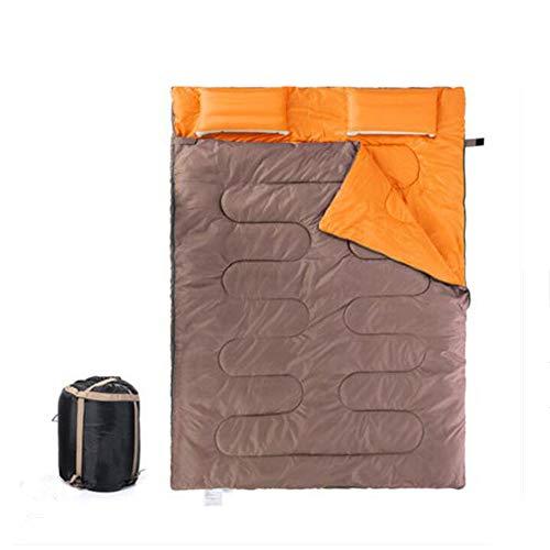 Jcnfa-saco de dormir Doble Al Aire Libre Almohada Inflable Otoño E Invierno Tienda De Campaña, 2.4kg. (Color : A, Tamaño :...