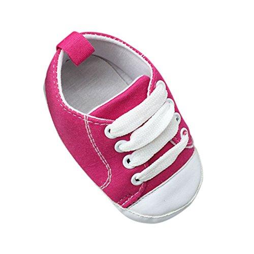 ROPALIA S?uglingsbaby weichen Boden Rutschfeste Schuhe Krippe Schuhe Rose Red