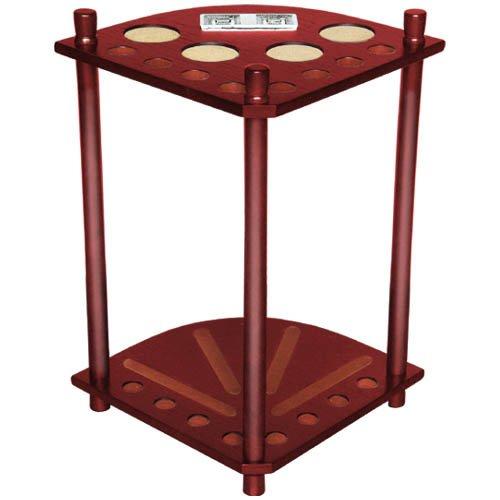 (Sterling Gaming Deluxe Corner Cue Rack (8 Cue), Mahogany)