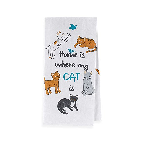 Sam Hedaya Cat Couture Flat Weave Kitchen Towel (Kitchen Couture compare prices)