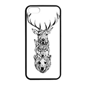 Canting_Good,Deer, Custom Case for iPhone 5,5S TPU (Laser Technology)