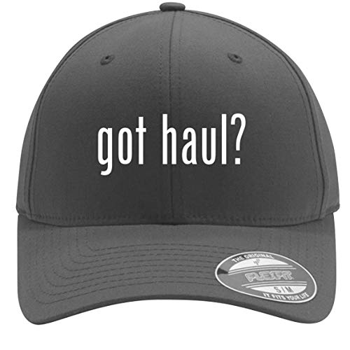 (got haul? - Adult Men's Flexfit Baseball Hat Cap, Silver, Small/Medium)