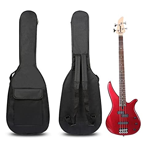 0f33f23300b Amazon.com: Electric Bass Guitar Padded Soft Case Gig Bag Backpack Double  Straps: Musical Instruments