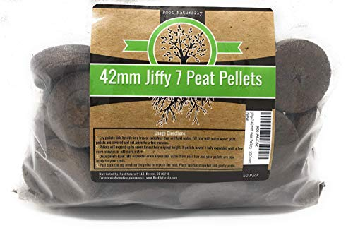 (Root Naturally Jiffy-7 42mm Peat Pellets - 50 Count)