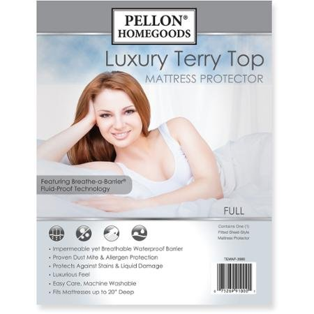 Pellon TEMAP-5475 Luxury Terry Top Mattress Protector - full Size by Pellon
