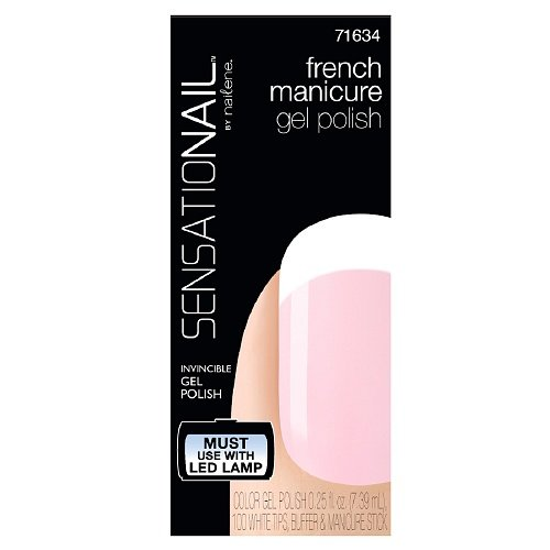 SensatioNail by Nailene French Manicure Gel Polish, Sheer Pi