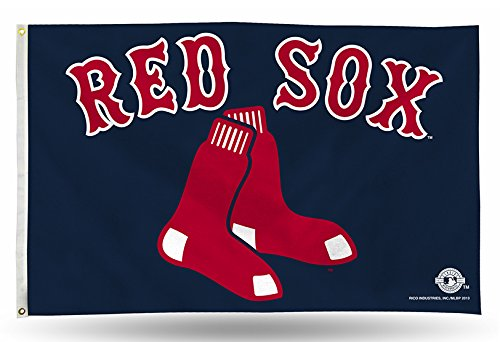 fan products of MLB Boston Red Sox 3-Foot by 5-Foot Banner Flag