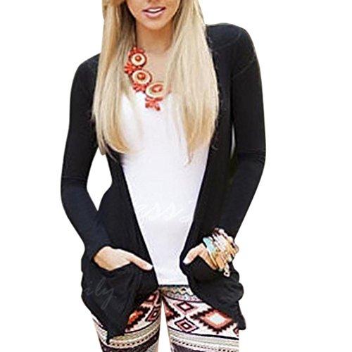 Clearance Sale! Women Long Sleeve Skull Backless Top Coat Jacket Outwear Casual Cardigan (S, (Skull Waterproof Jacket)
