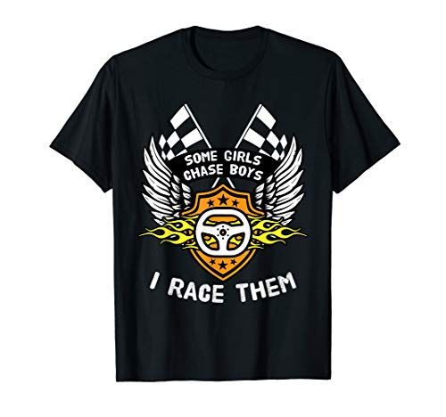 Funny Womens Drag Racing Gift  for Girl Race Drivers & Fans T-Shirt (Dragster Steering)