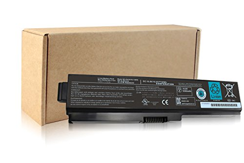 Notebook Replacement 1brs Battery - Angwel 10.8V 98WH Toshiba PA3819U-1BRS Replacement Laptop Battery for Satellite A655 A660 L600 M500, Satellite Pro C650 C660 L510 serious – 1 Year Warranty