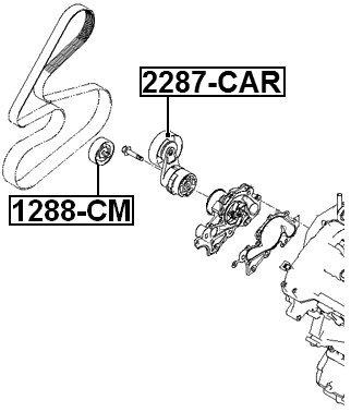 Tensioner Timing Belt For Ford 1L2Z8678Ab 1L2Z-8678-Ab