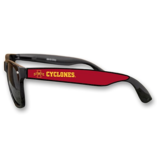 Iowa State Cyclones Black Plastic Frame Classic Sunglasses with Logo