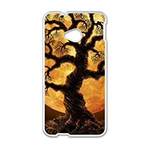 Glam Tree Night Moon personalized creative custom protective phone case for HTC M7