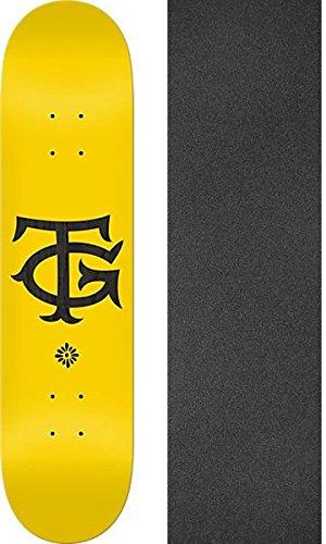 一般化するマンモス公Real Skateboards Tommy Guerrero The TGイエロー/ブラックスケートボードデッキ – 8.38
