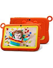 Tablet für Kinder Android 8.1 Quad Core 1 GB RAM 16 GB Rom Tablet für 7 Zoll Office-WiFi HD Display mit Google Play und Kid Tasche