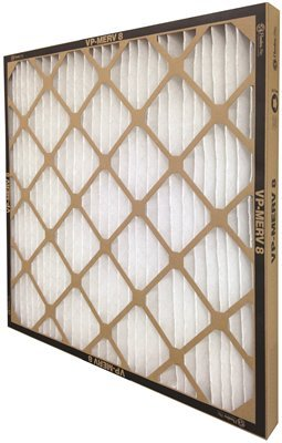 FLANDERS 80085.02203 12 Piece Vp MERV 8 Standard-Capacity Extended Surface Pleated Air Filter, 20'' by 25'' by 2''
