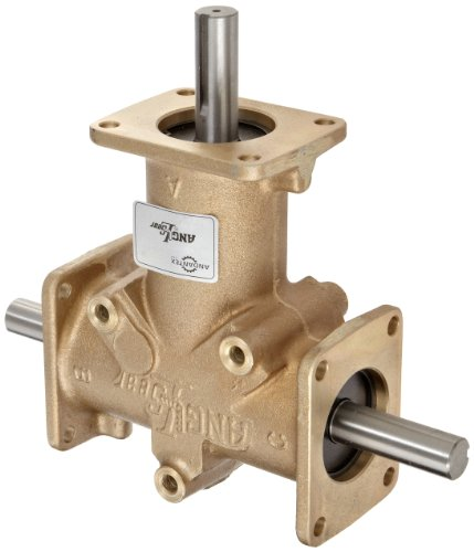 Andantex R3350 Anglgear Right Angle Bevel Gear Drive, Universal Mounting, Two Output Shafts, 3 Flange, Inch, 3/4