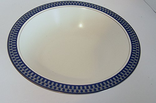 Mikasa Potter's Touch AZTEC BLUE CB009 Round Serving Vegetable Bowl 10 in