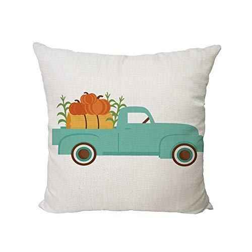 Yanvan Halloween Pumpkin Cute Picture Pillow Cover Sofa Waist Throw Cushion Cover Home Decor (D)