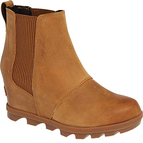 SOREL Women's Joan of Arctic Wedge II Chelsea Boots, Camel Brown 2, 9 M US