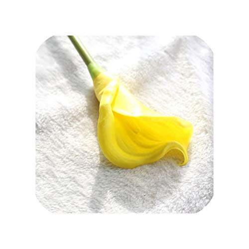 Artificial Calla Lily Real Touch Calla Lilies Fake Flowers,Yellow