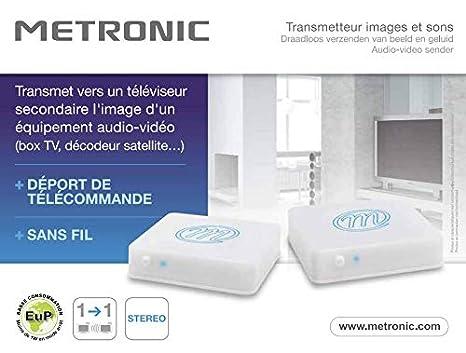 Metronic 475368 Transmetteur vid/éo 1 source 5.8 GHz Noir