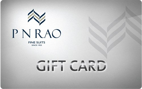 Get Flat 4% off at Checkout  PN Rao Gift Card