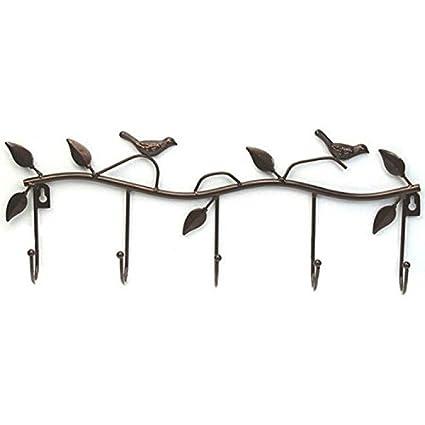 bluemoo Vintage Rústico rama de árbol Pájaros y metal ...