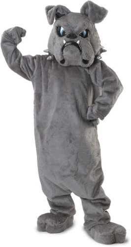 Rubie's Bulldog Mascot Costume, Gray, One Size