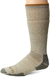 Carhartt Men\'s Arctic Wool Heavy Boot Socks,  Heather Grey, Shoe: 6-12