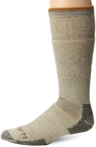 Carhartt Mens Arctic Wool Heavy Boot Socks   Heather Grey  Sock Size 10 13 Shoe Size  6 12