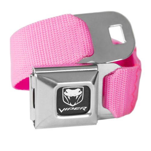 Pink Dodge Viper Seatbelt Buckle Fashion Belt - Officially Licensed