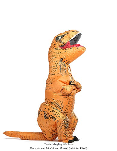 GOPRIME T Rex Costume, Dino Theme Party Dress, Dinosaur Costume (Brown Kid) for $<!--$39.90-->