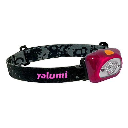 Yalumi Spark Dual 105-Lumen 90-Meter Spotlight White/Red Night Vision LED Headlamp, Elegant Design, 1.5X Brightness, Longer Battery Life, Less Than 2.7 oz, Magenta/Black