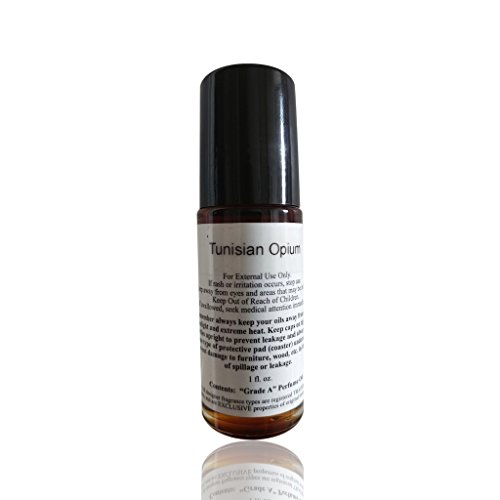 Alcohol Free Unisex Perfume Tunisian Opium Type Body Oil Scented Fragrance 1 oz Glass Roll-On (Scented Opium Perfume)