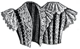1894 Bolero Jacket of Velvet Ribbon & Lace Pattern