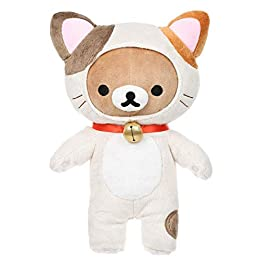 Rilakkuma Cat Plush | Brown & White Neko Plushie 11