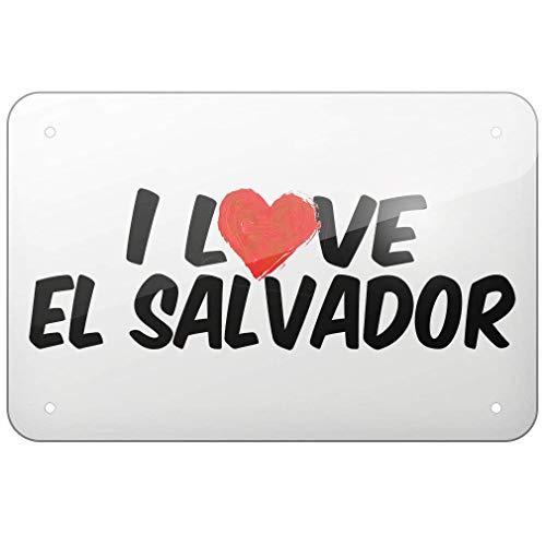 New Tin Sign Aluminum Retro I Love El Salvador Metal Sign 8 X 12 Inch