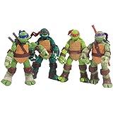 NuoYa Teenage Mutant Ninja Turtles Classic Collection 12cm Figure 4pcs Set Green, Free