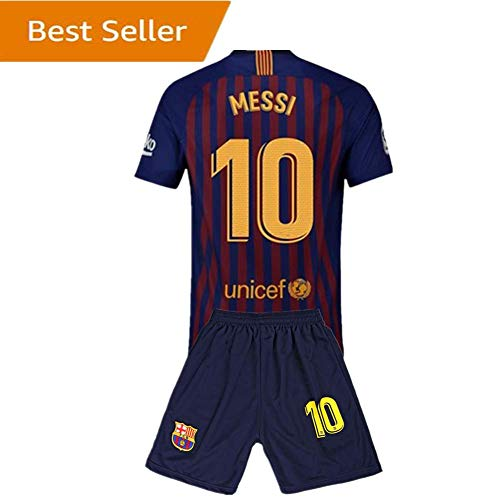 10 Messi Barcelona Kids Youth Home Boys Soccer Jersey   Shorts 18-19  Season Red Blue 11-12Years 26 a7116b208