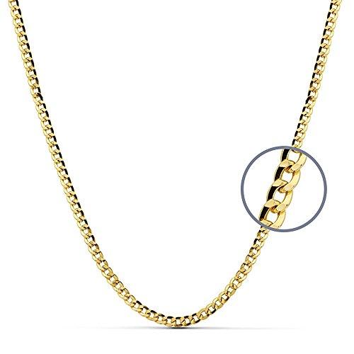Chaîne 60 cm creux 9k d'or. 3.8mm. 8.25gr. [AB2462]