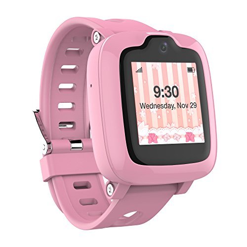 Smart Watch Phone for Kids - Ultimate 3G Smartwatch with GPS Tracker, Touchscreen, Camera, Touch SOS Remote Alarm, Fitness Trackers, Waterproof Cell Phone Watches for Girls Boys by myFirst Fone-Pink