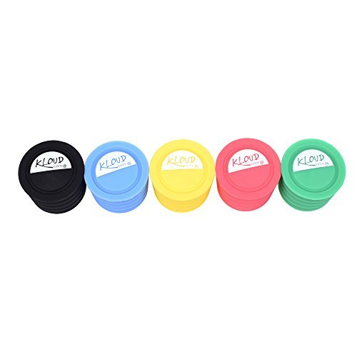 (KLOUD City Pack of 5 Candy Colors Food Graded Durable Silicone Wine Beer Beverage Glass Bottle Caps Stoppers Sealer Cover)